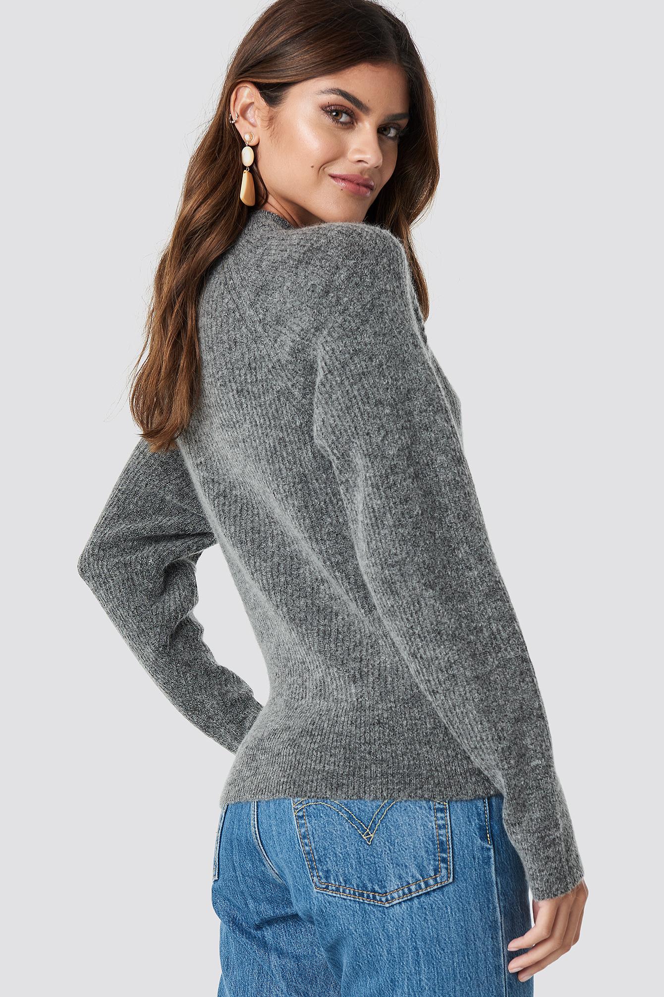 Wool Blend Raglan Sleeve Sweater NA-KD.COM