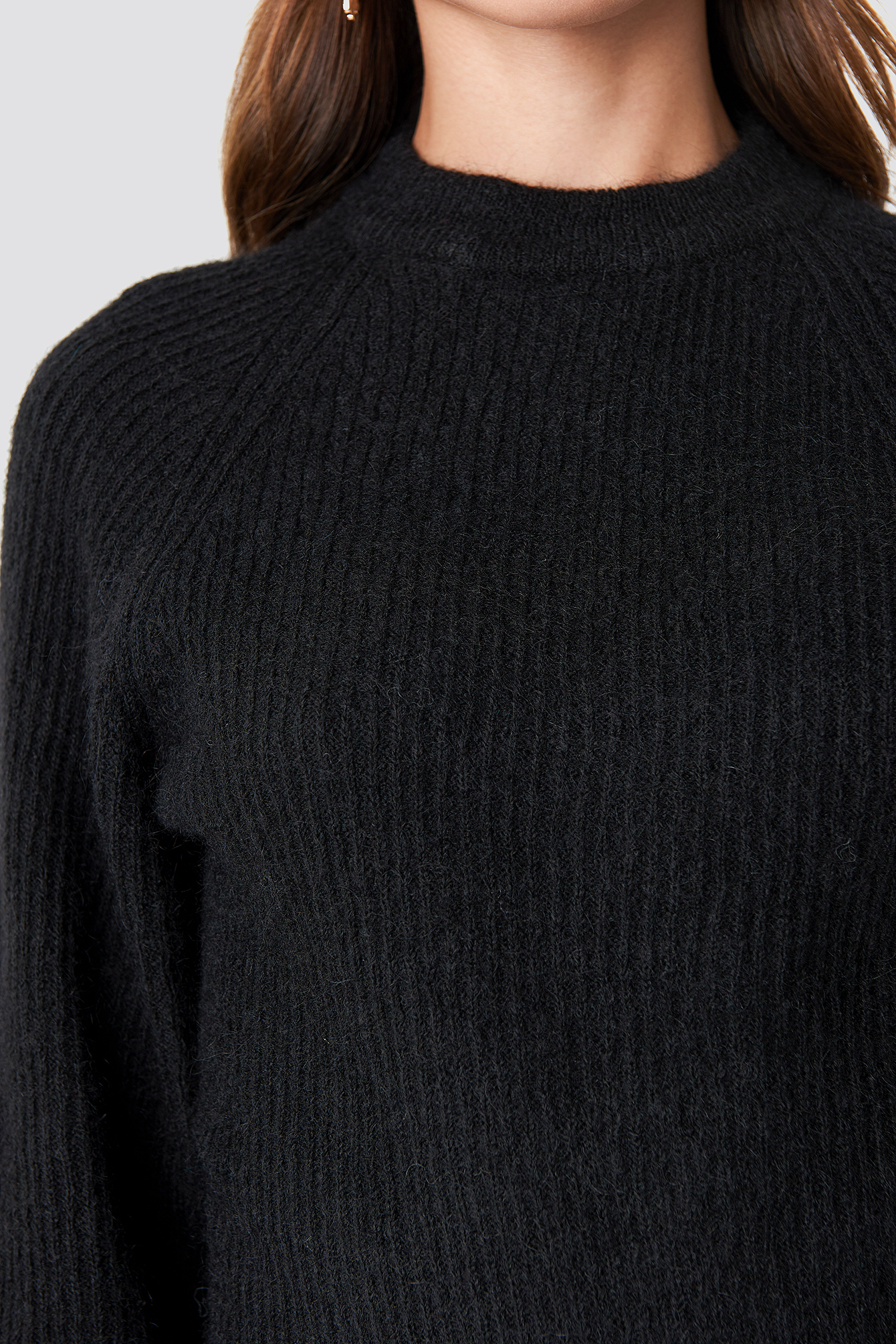 Wool Blend Raglan Sleeve Sweater NA-KD.COM