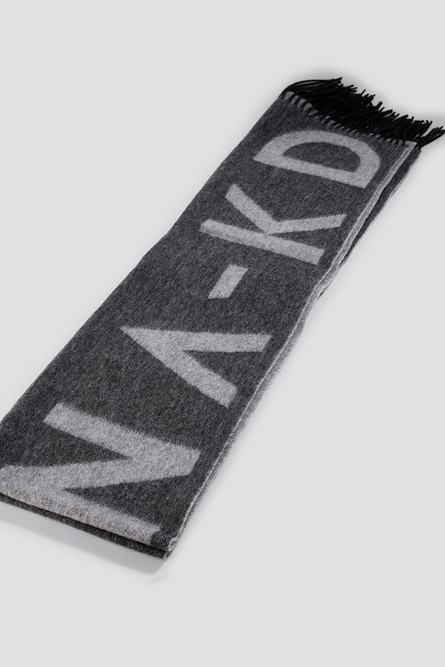 Wool Logo Scarf Grey