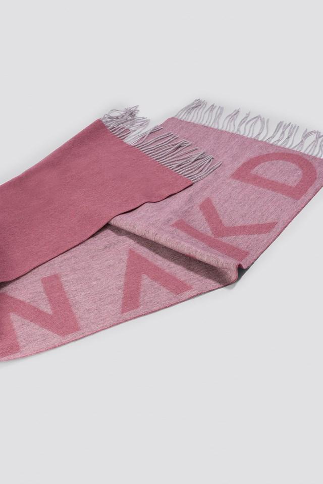 Wool Logo Scarf Dusty Pink