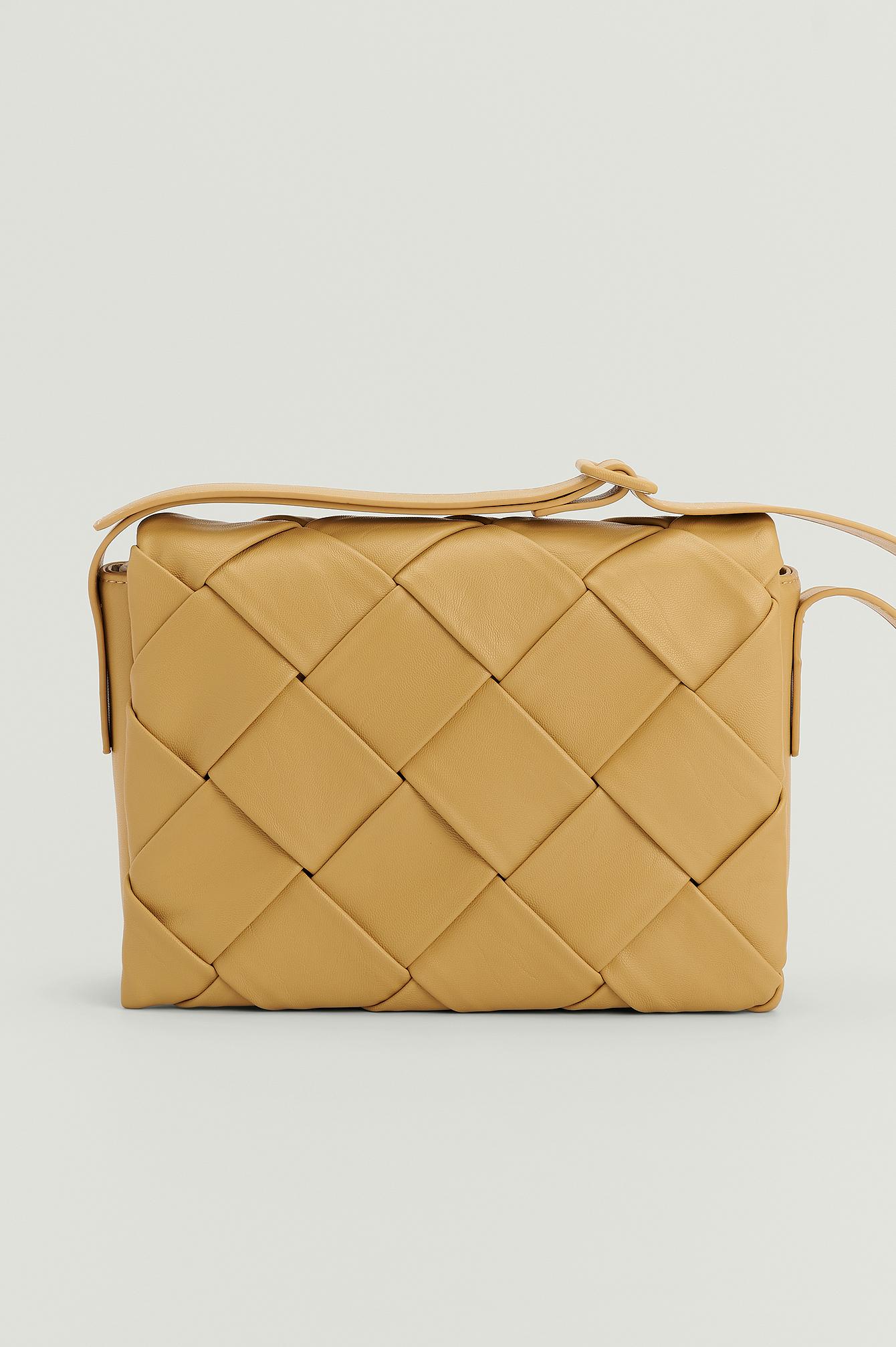 NA-KD Accessories Vevd Crossbody Bag - Yellow