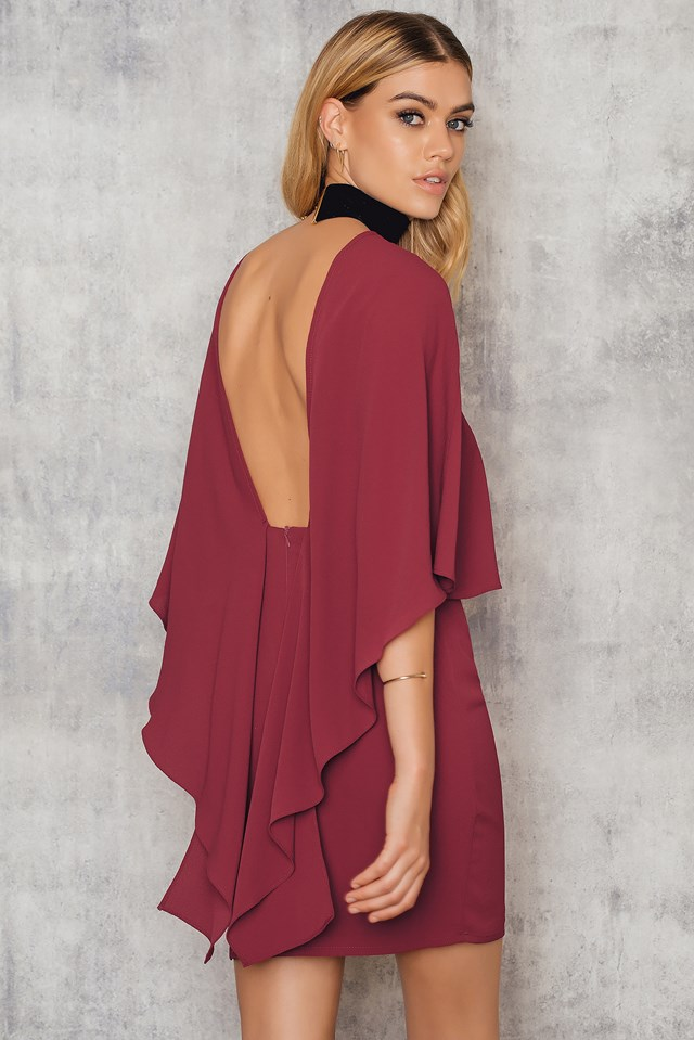 Woven Flowy Back Sleeve Dress NA-KD.COM