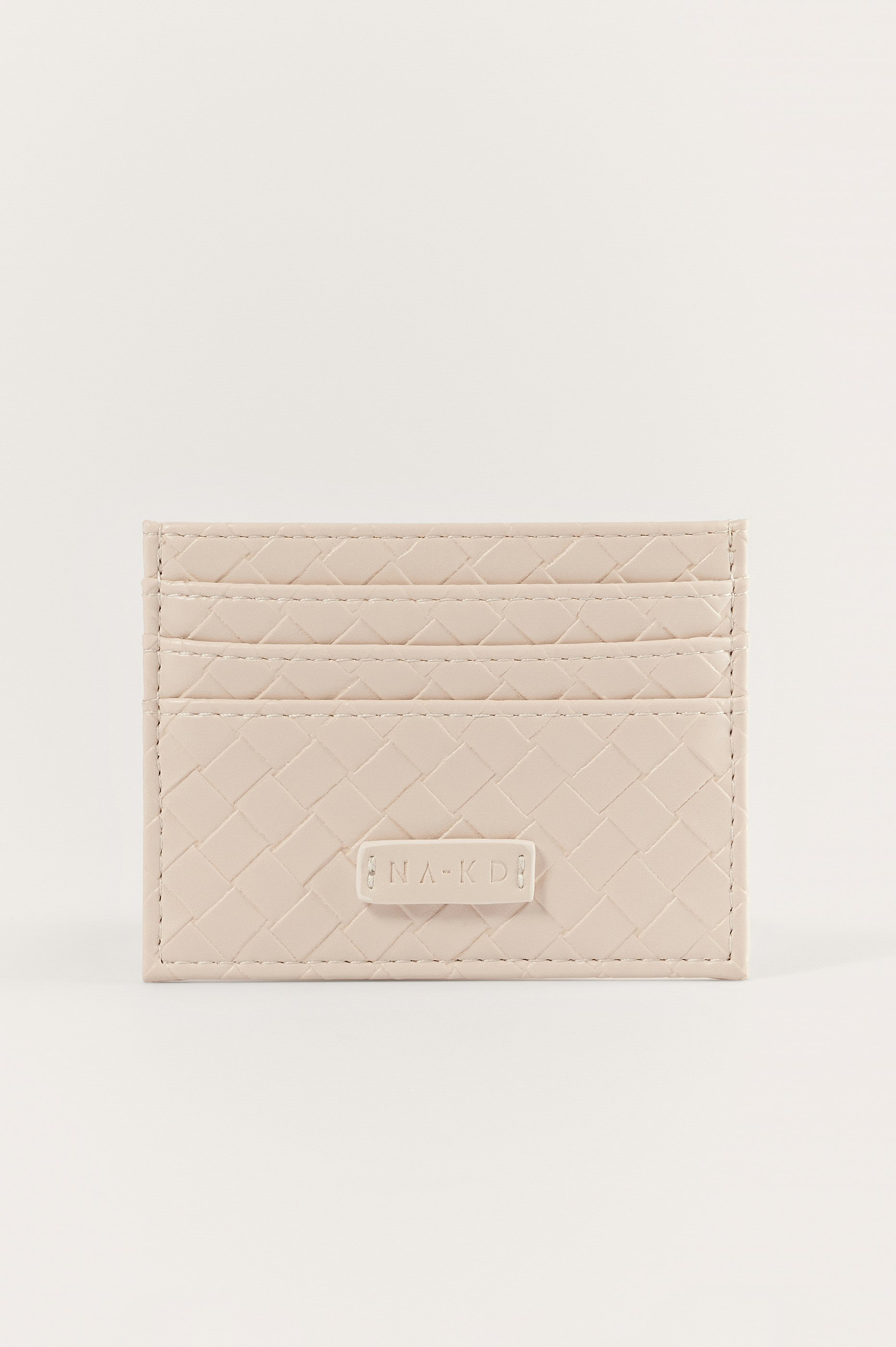 Offwhite Woven Look Cardholder