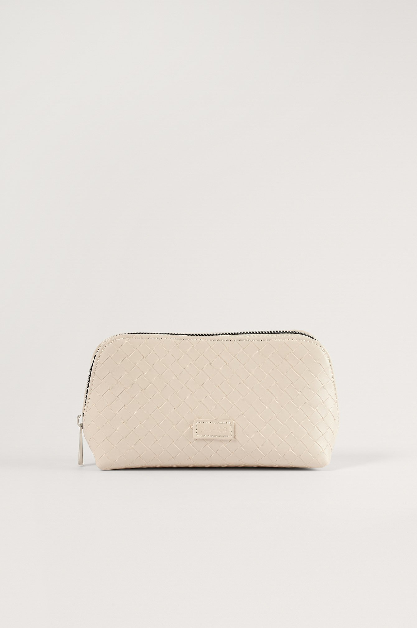 NA-KD Accessories Woven Look Make Up Bag - Beige
