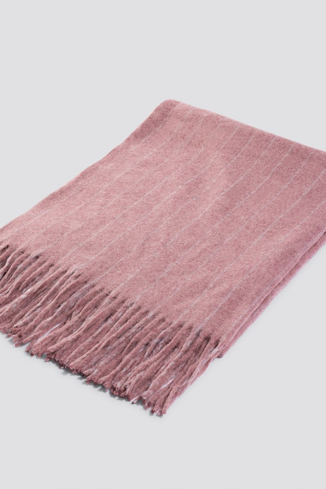 Woven Pinstripe Scarf Rose