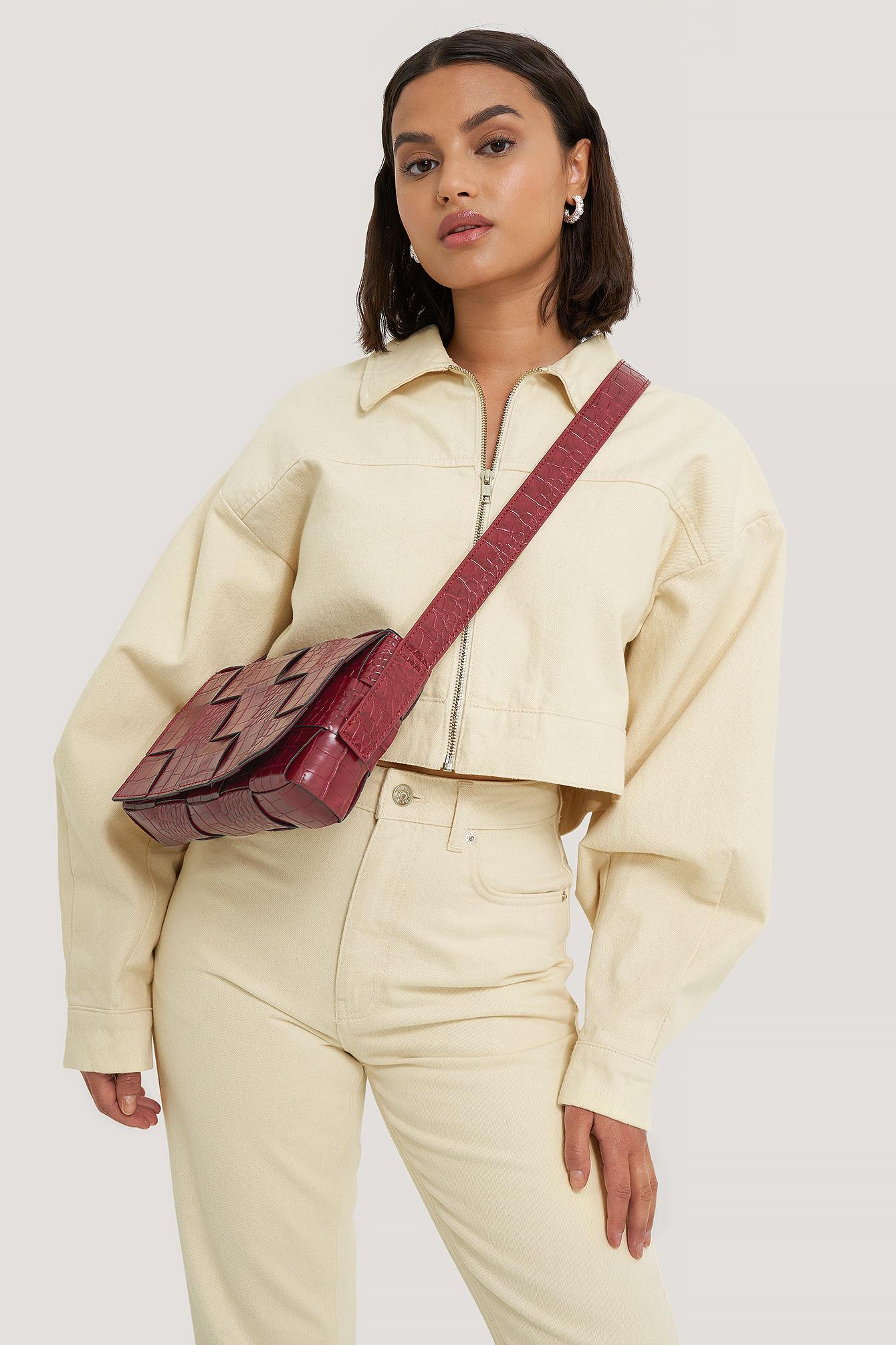 NA-KD Accessories Gewebte Umhängetasche - Red | Taschen > Handtaschen > Umhängetaschen | NA-KD Accessories