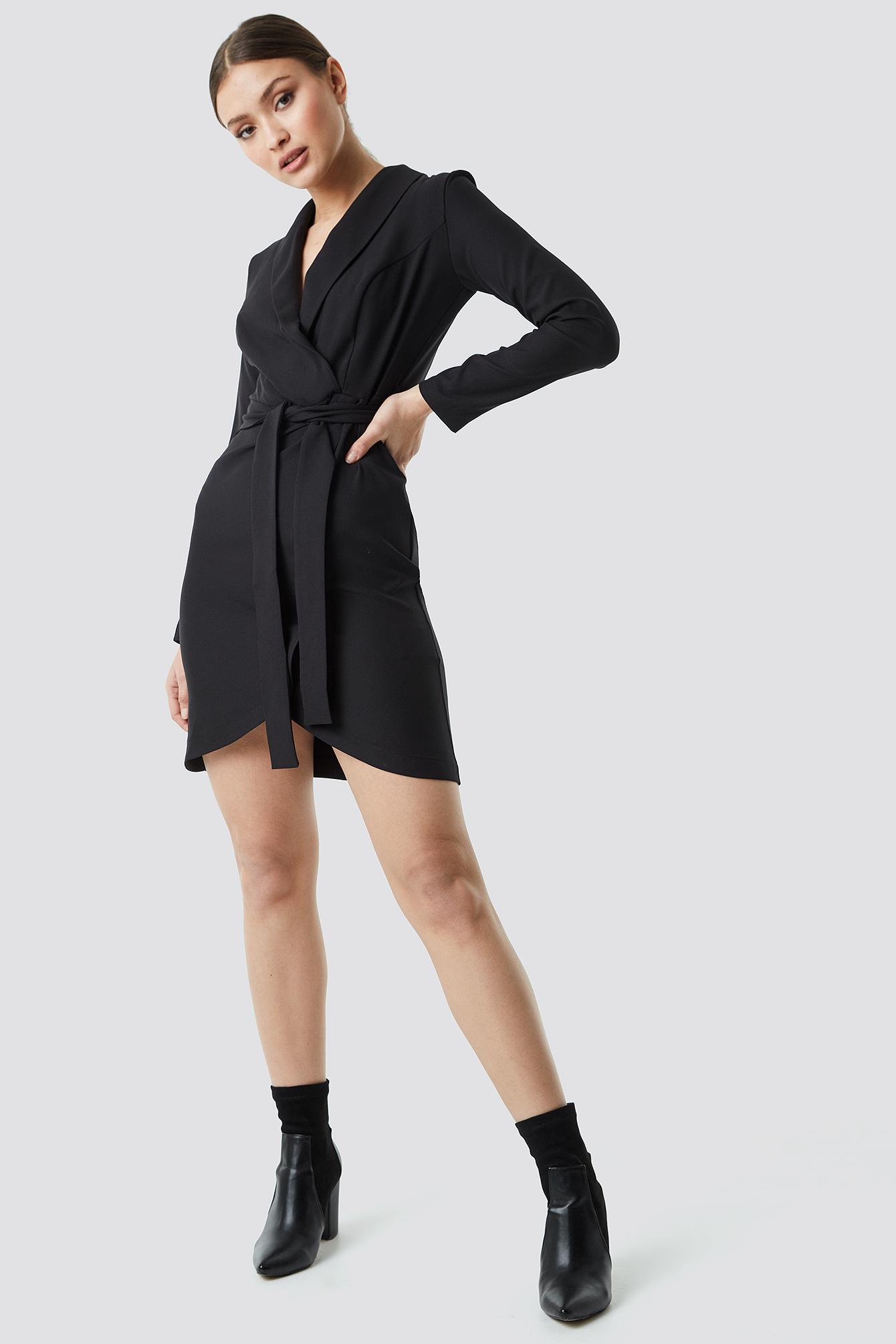 Wrap Around Belt Dress NA-KD.COM