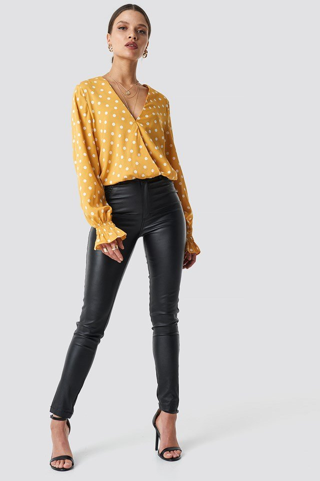 Wrap Dotted Blouse NA-KD.COM