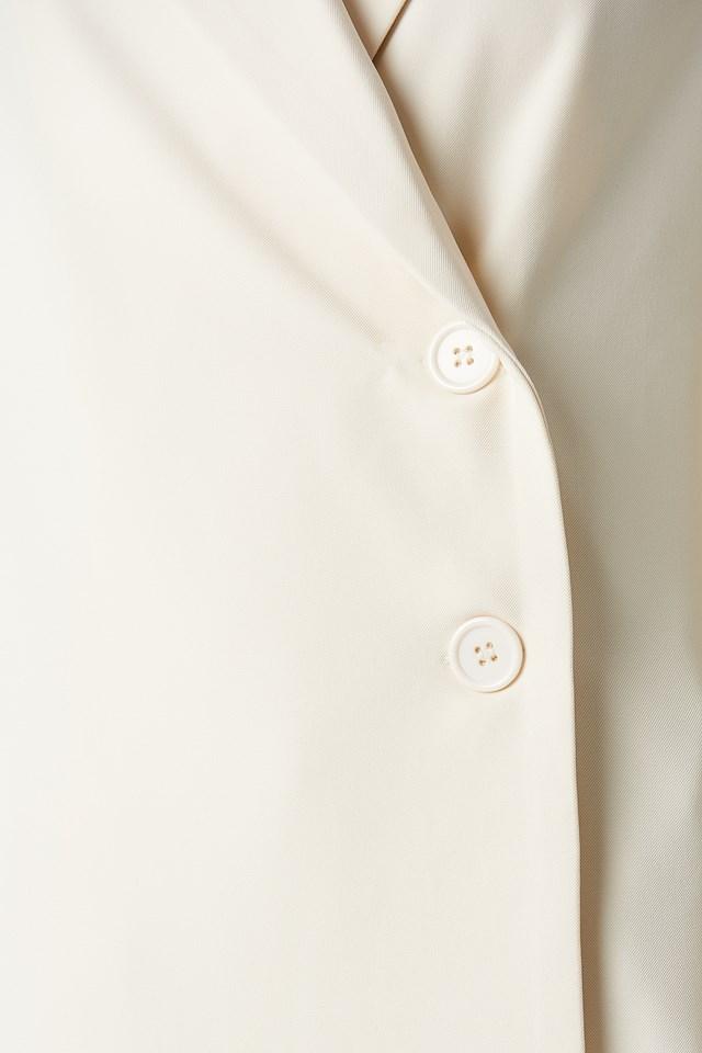 Wrap Front Blazer Off White