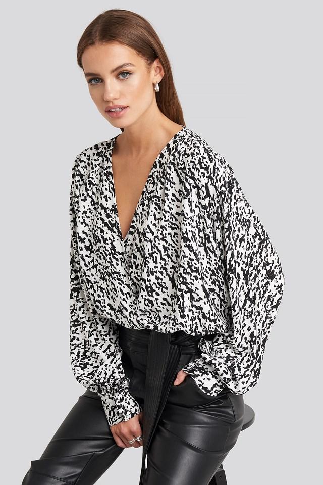 Wrap Front Leopard Print Blouse NA-KD
