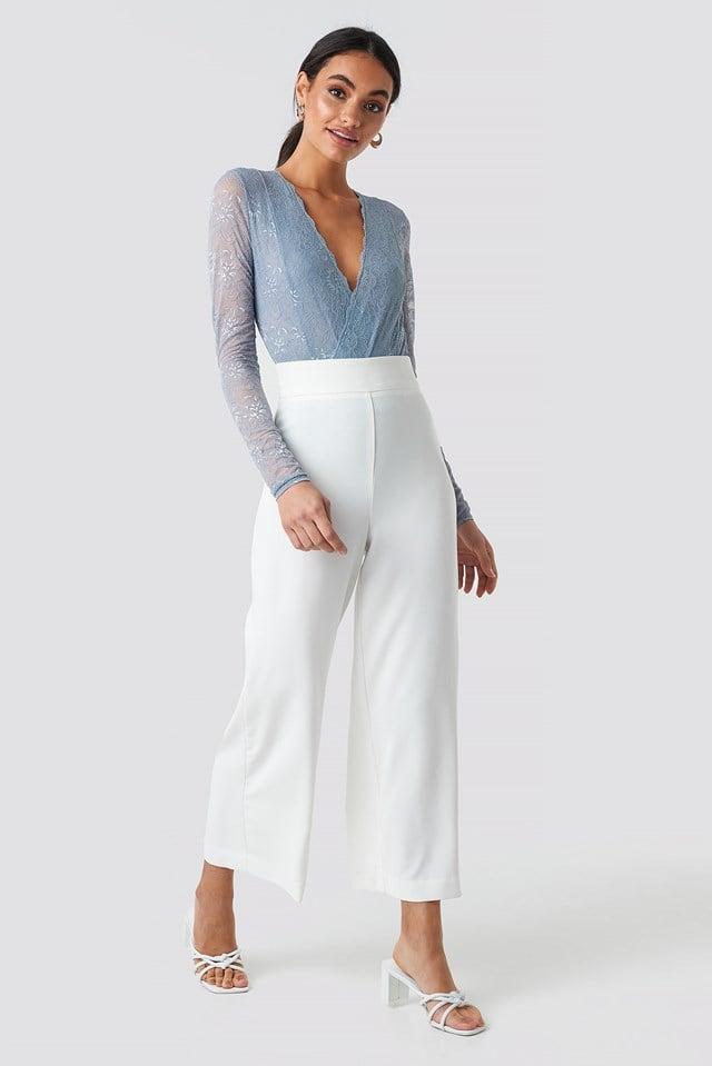 Wrap Front LS Lace Bodysuit NA-KD.COM