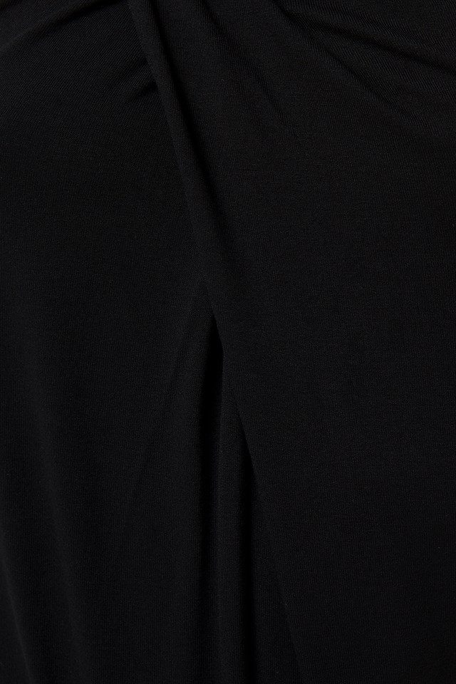 Wrap Halterneck Blouse Black