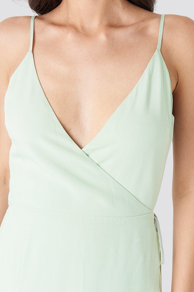 Wrap Midi Dress Green
