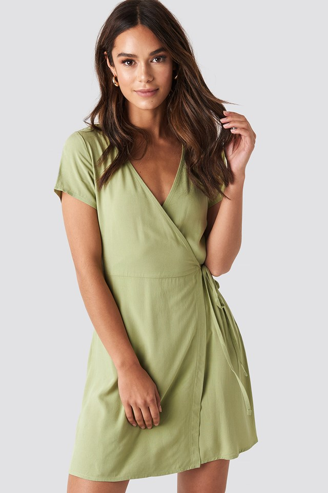 Wrap Mini Dress NA-KD.COM