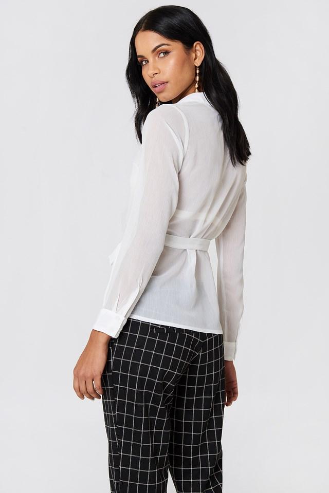 Wrap Over Chiffon Shirt NA-KD.COM