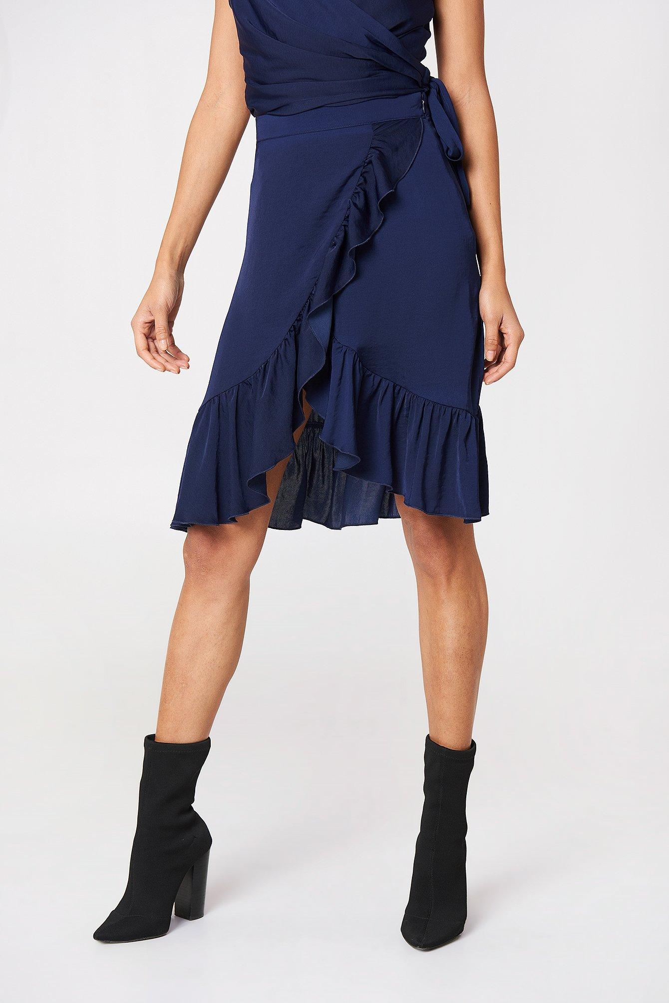 Wrap Over Frill Skirt NA-KD.COM