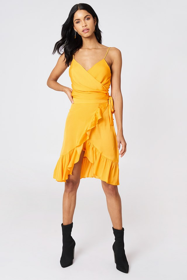 Wrap Over Frill Skirt Citrus