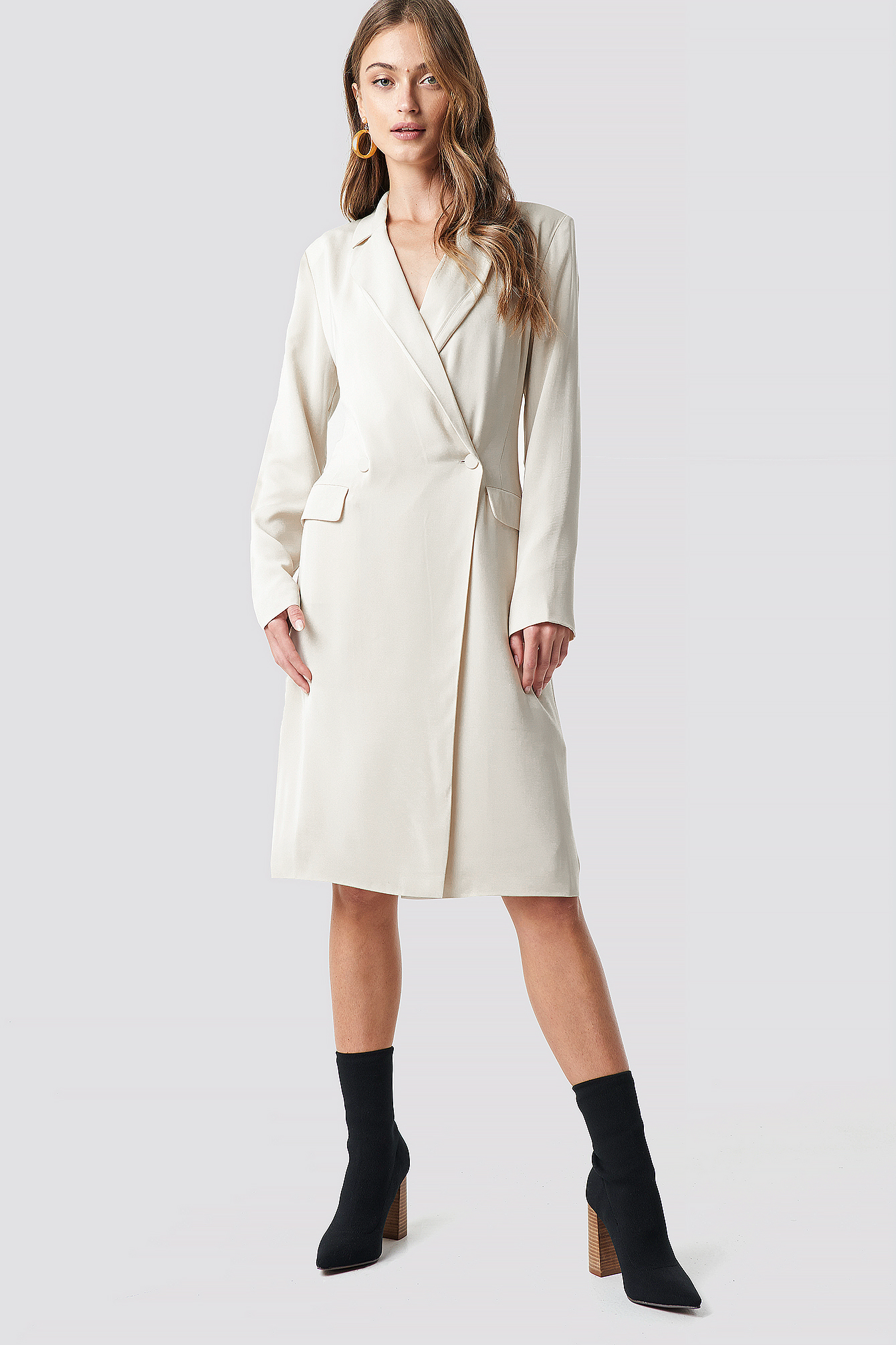 Wrap Over Midi Blazer Dress NA-KD.COM
