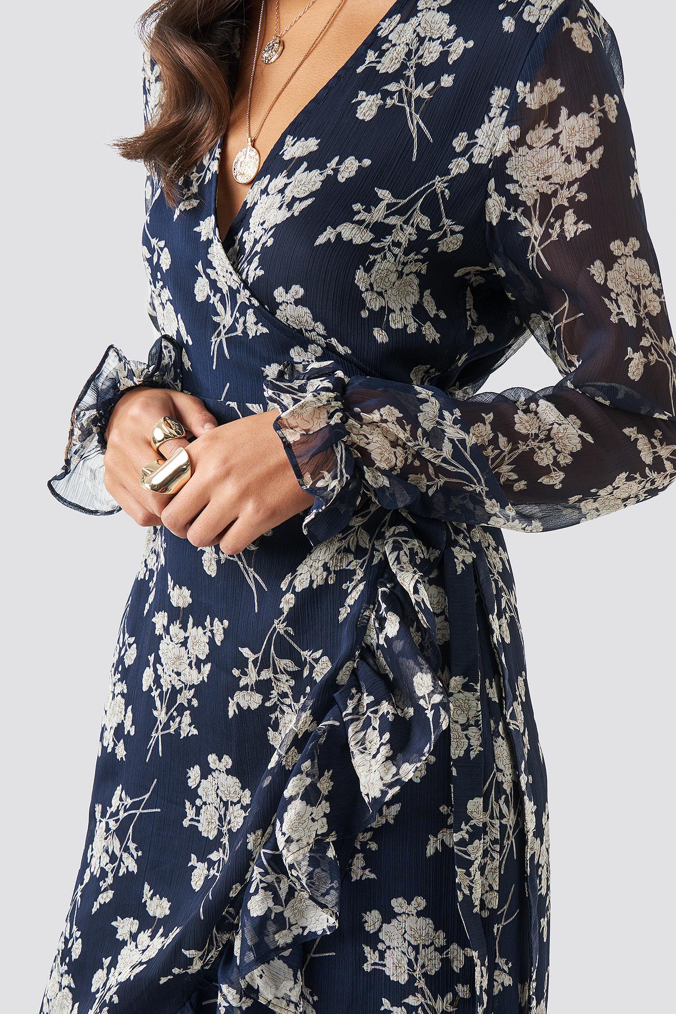 Wrap Over Self-Tie Dress NA-KD.COM