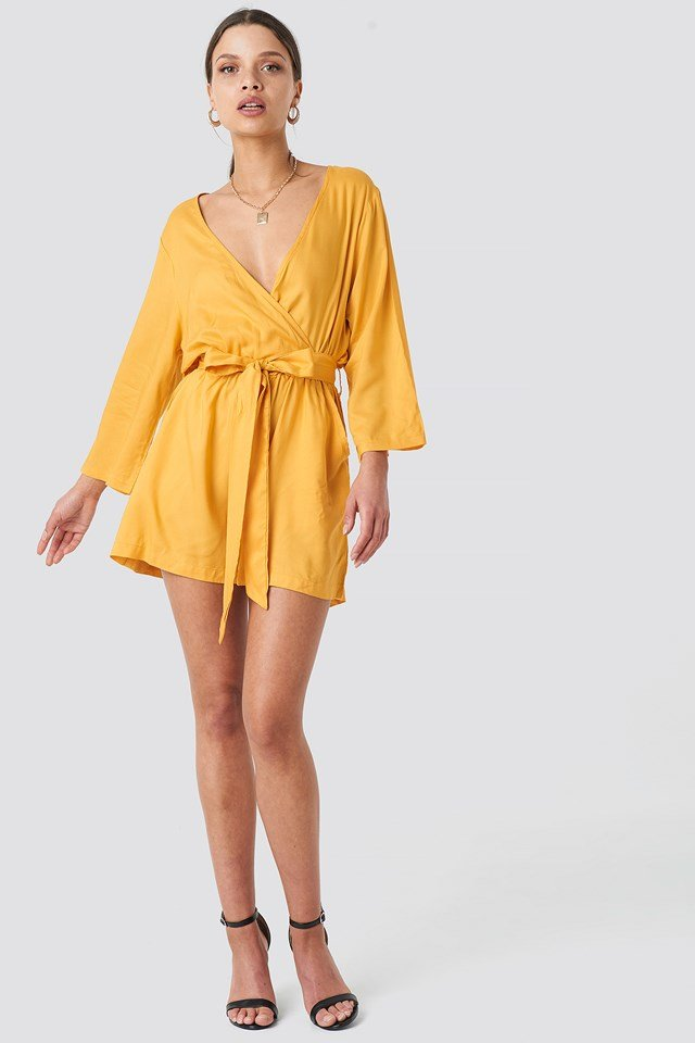Wrap Playsuit Citrus