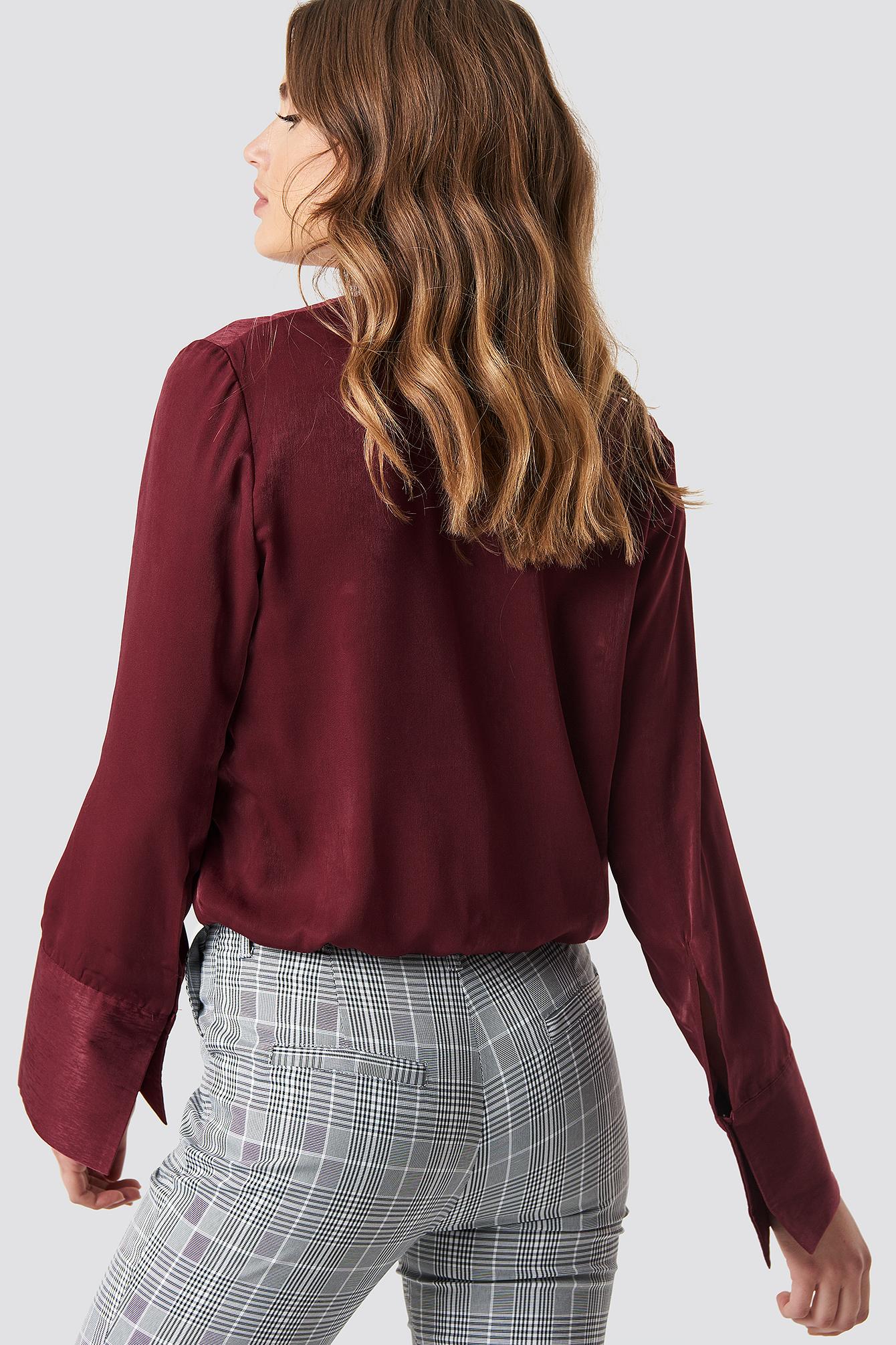 Kopertowy bluzka z satyny NA-KD.COM