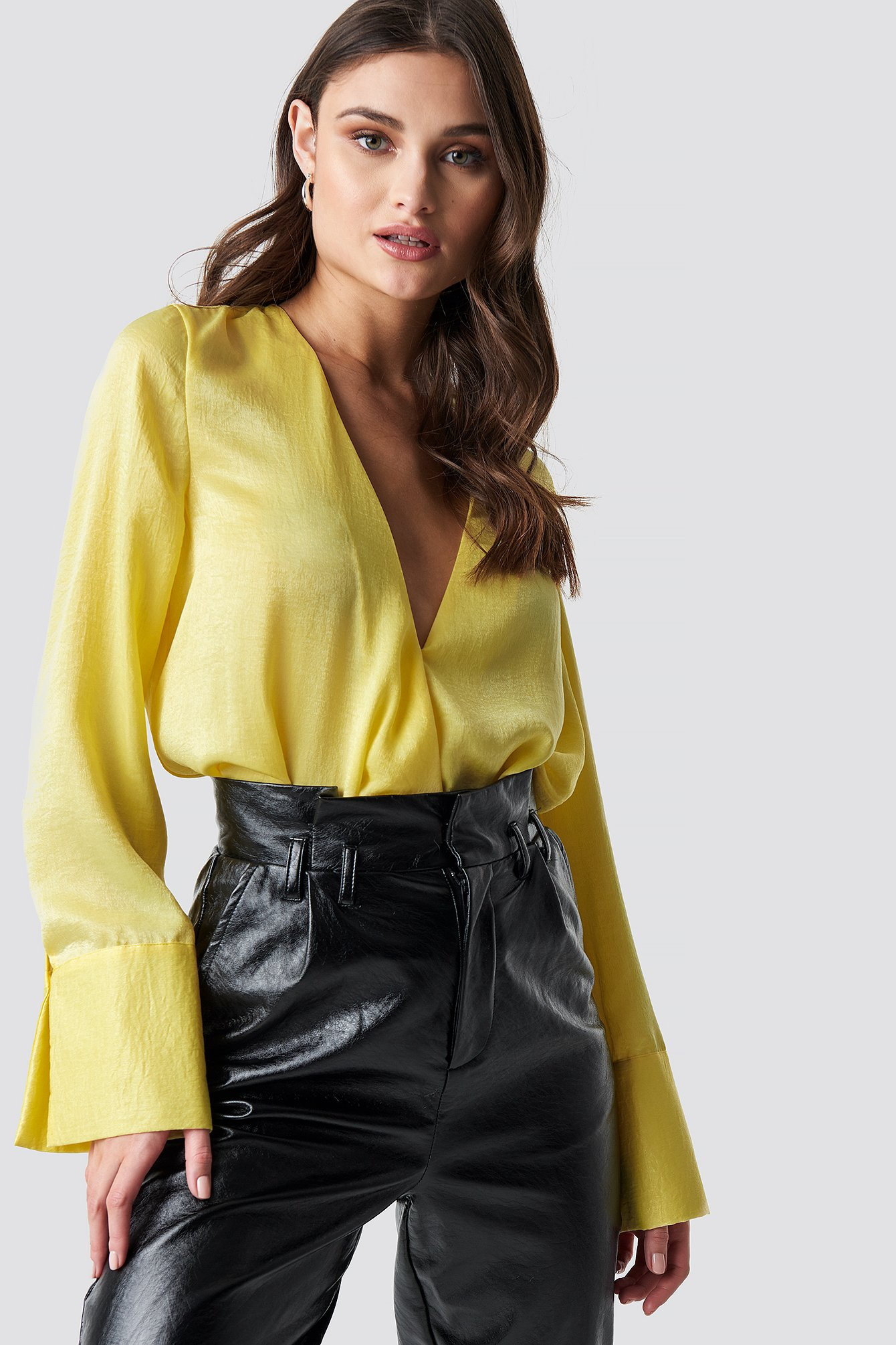 Wrap Satin Top NA-KD.COM