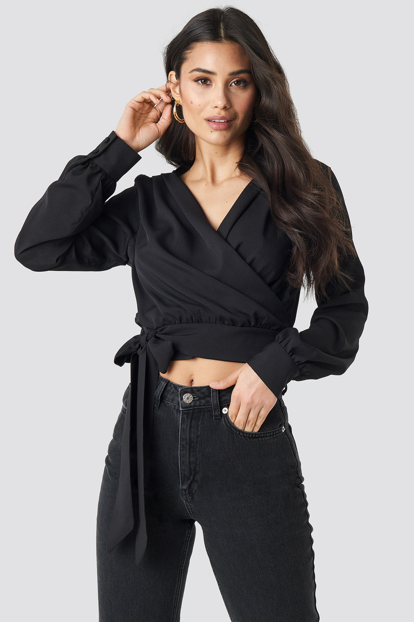 Wrap Tie Blouse NA-KD.COM