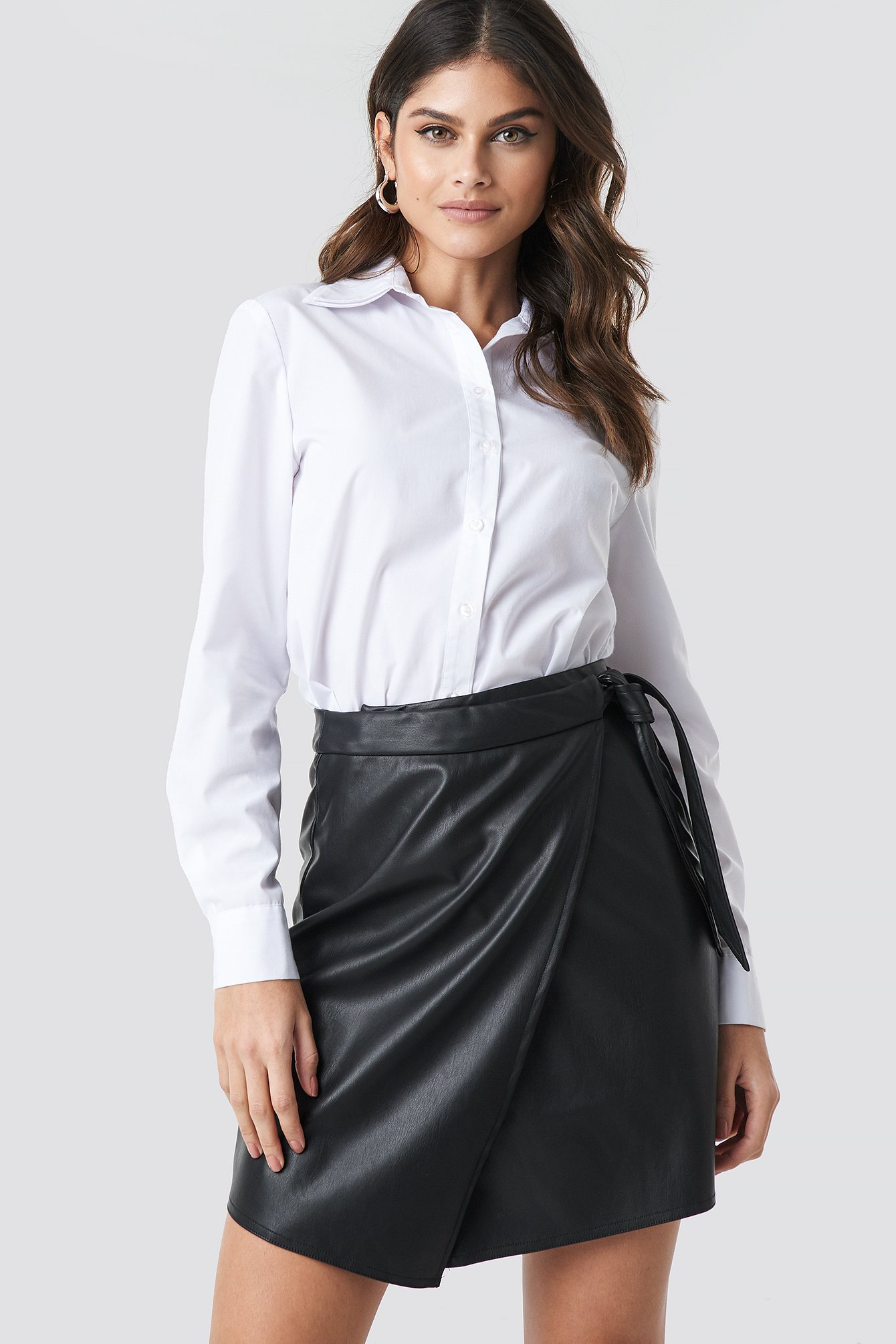 na-kd party -  Wrap Tie Mini Skirt - Black