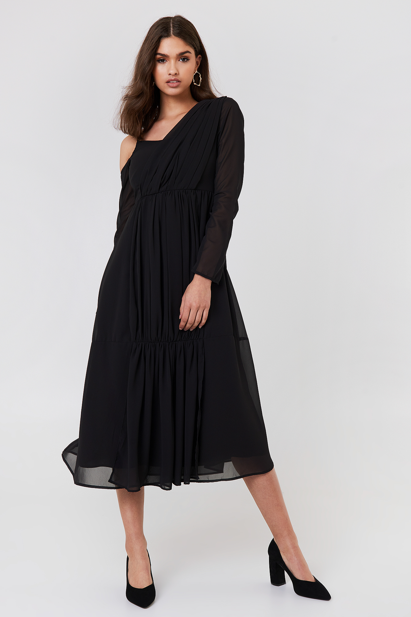 Wrap Top Asymmetric Dress NA-KD.COM