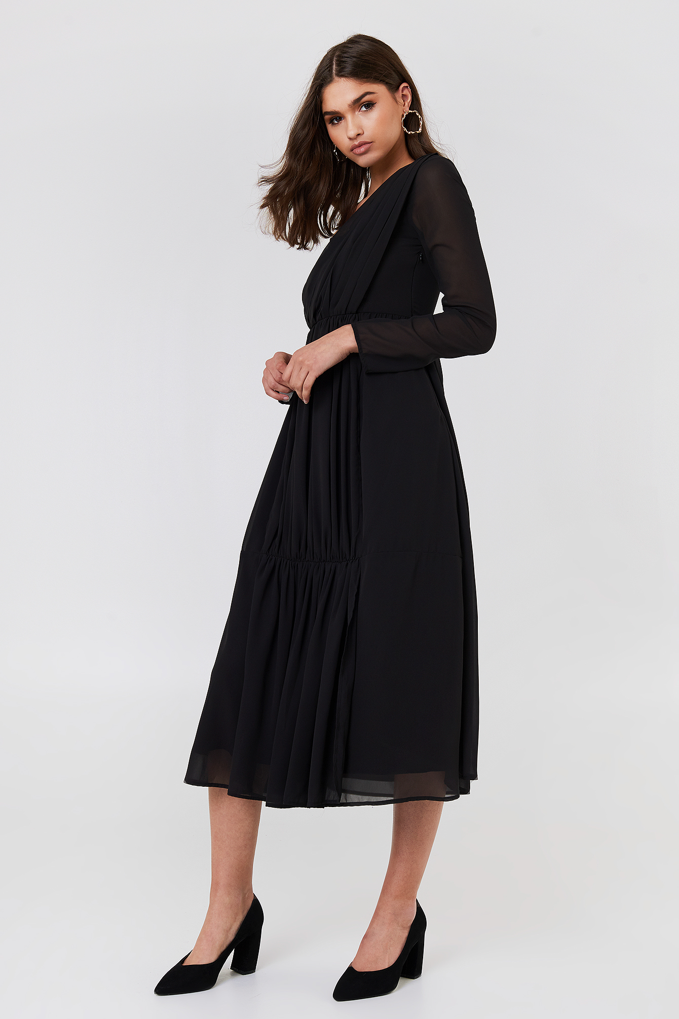 Wrap Top Asymmetric Dress NA-KD.COM