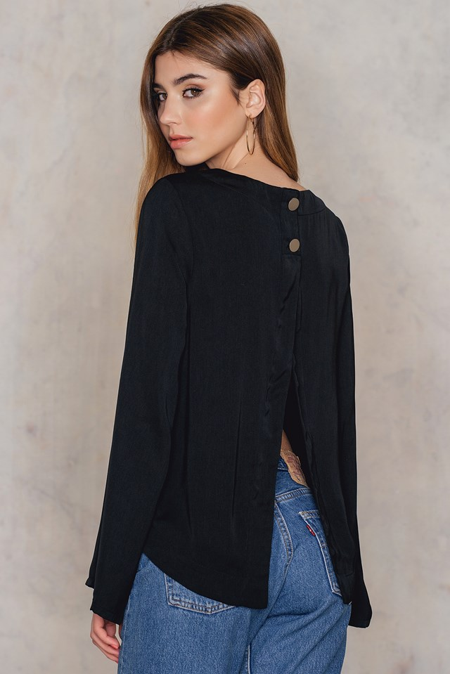 Wrapped Back Top Black