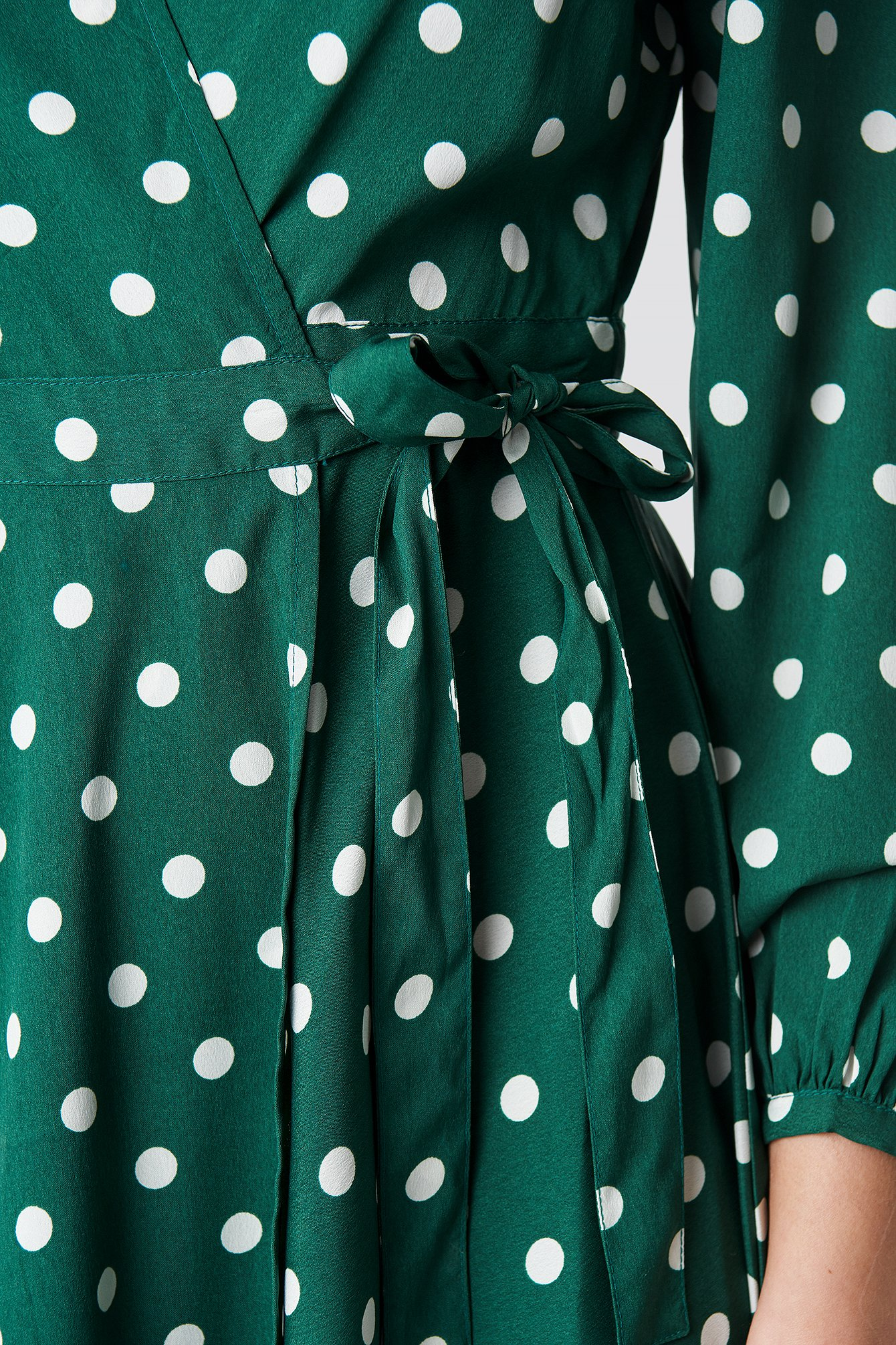 Wrapped Dot Midi Dress NA-KD.COM