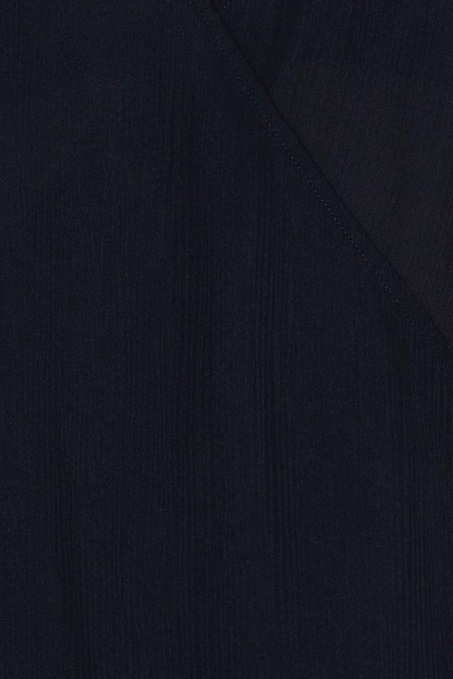 Wrapped Flounce Sleeve Blouse Black