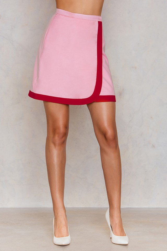 Wrapped Mini Skirt Pink