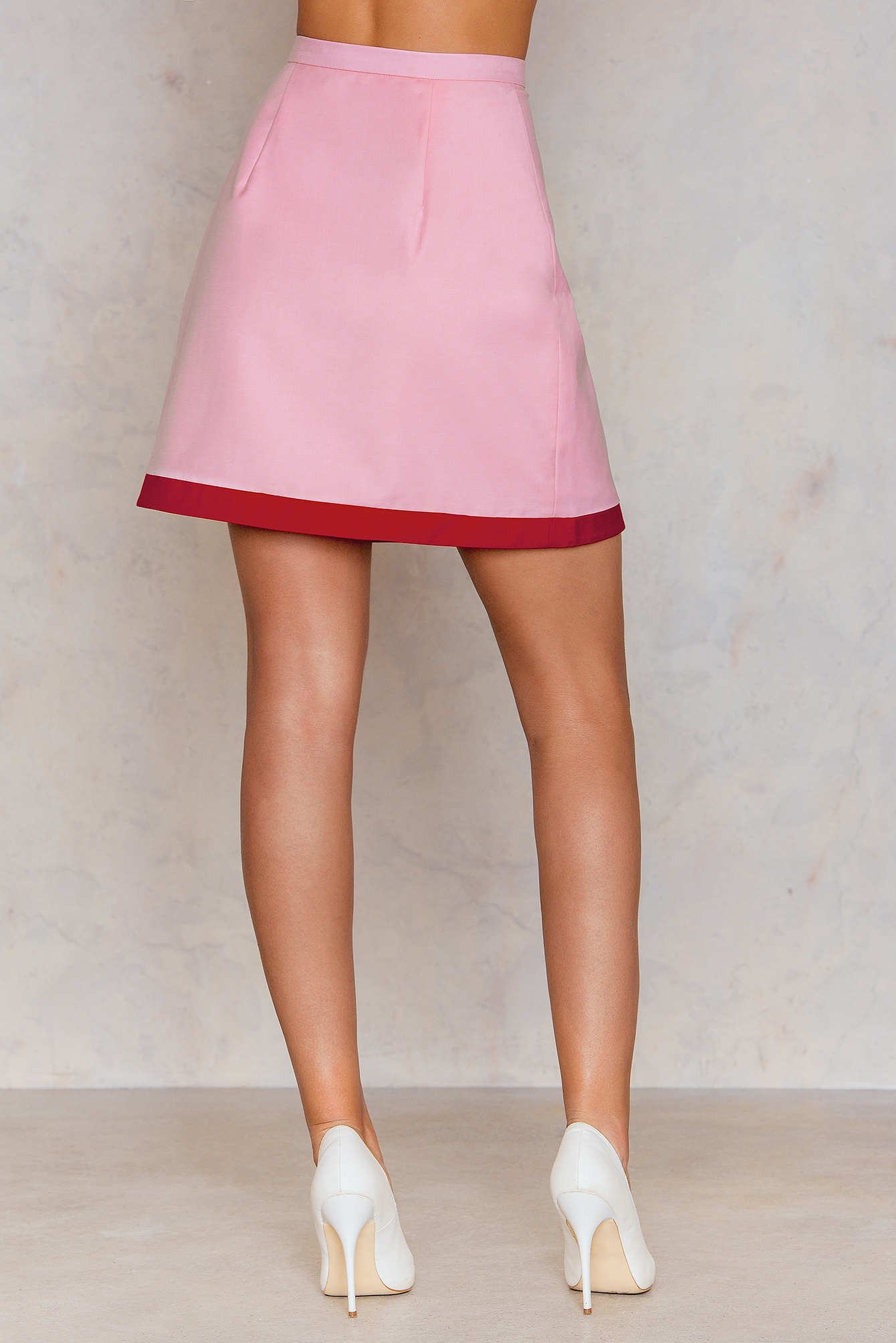 Pink Wrapped Mini Skirt