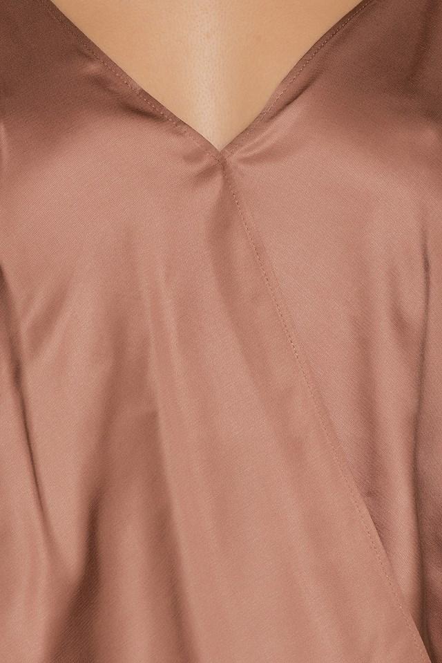 Wrapped Slip Singlet Dusty Pink