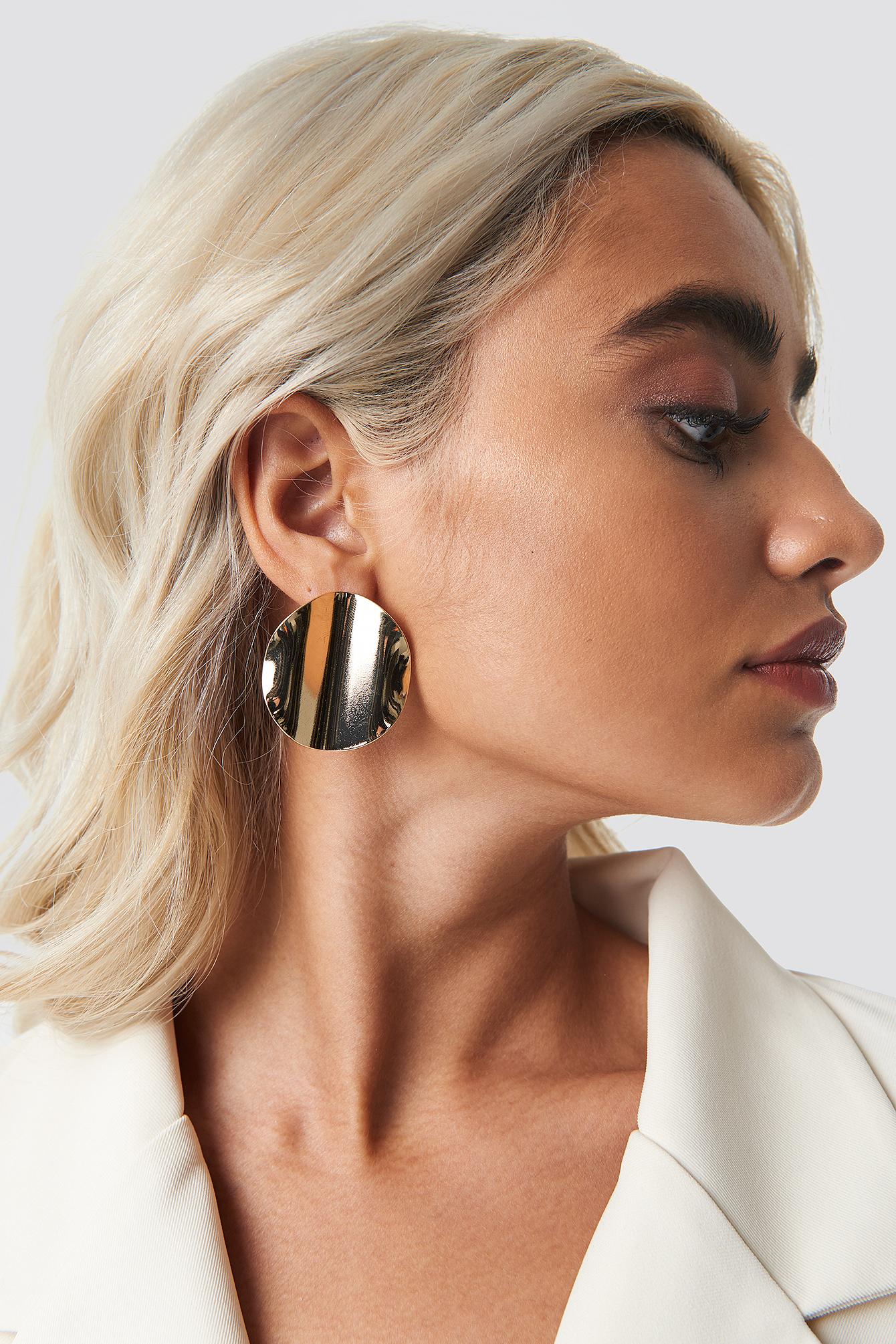 Wrinkled Plate Earrings NA-KD.COM