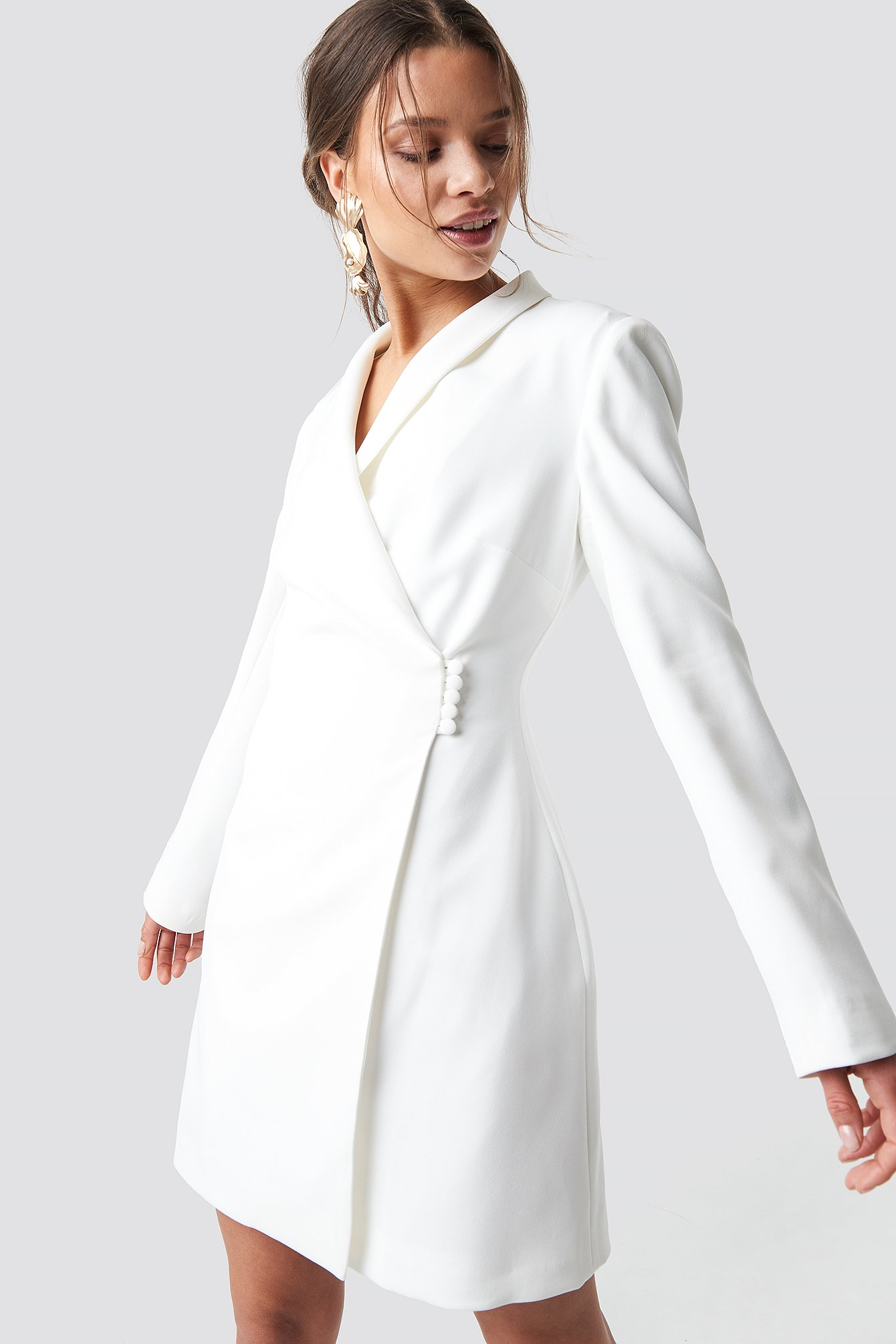 buttoned blazer dress