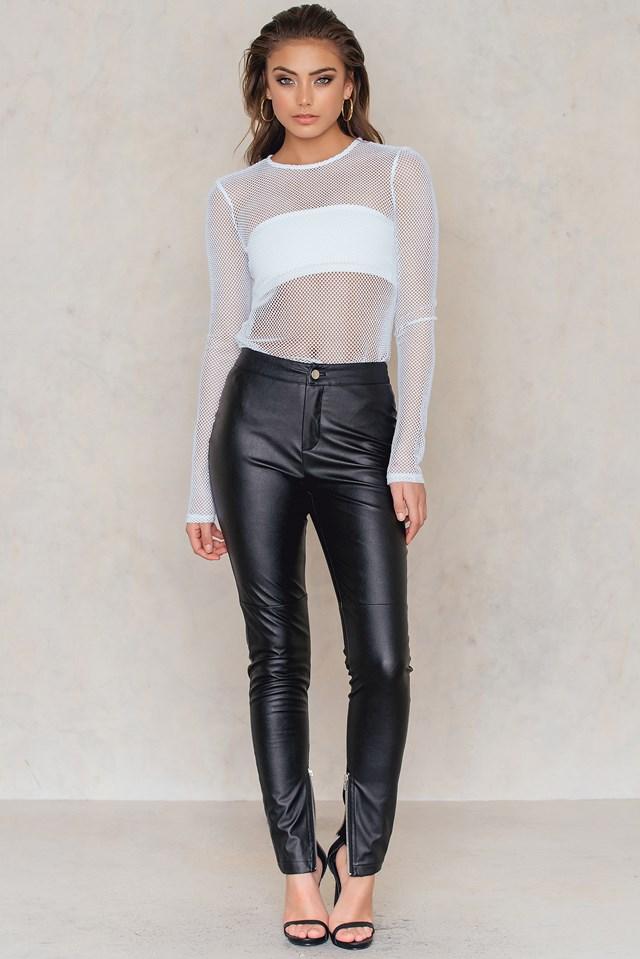 PU Leather Pants Black