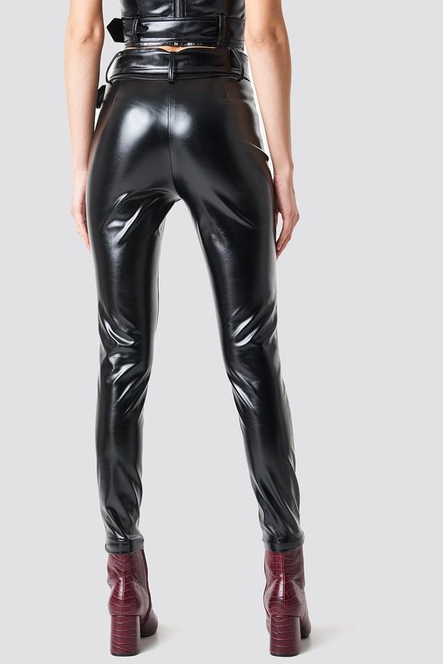 Amanda Belted Pants Black