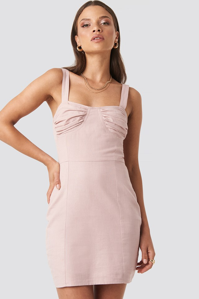 Jasmine Cup Dress Dusty Pink