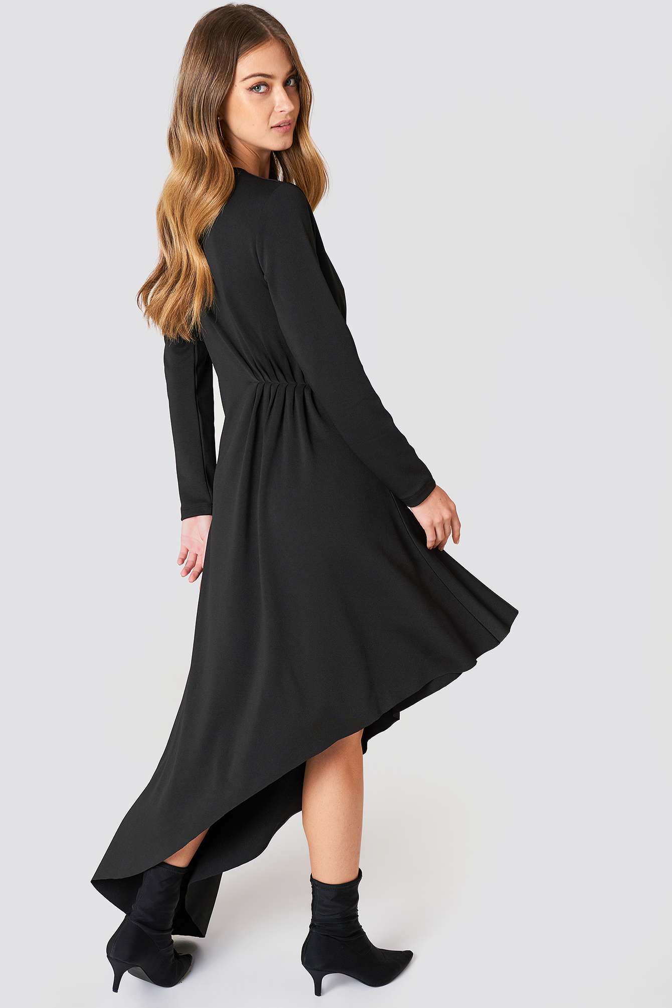 LS Draped Jersey Dress NA-KD.COM
