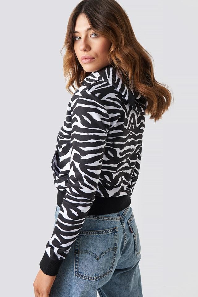 Zebra Crop Hoodie Zebra