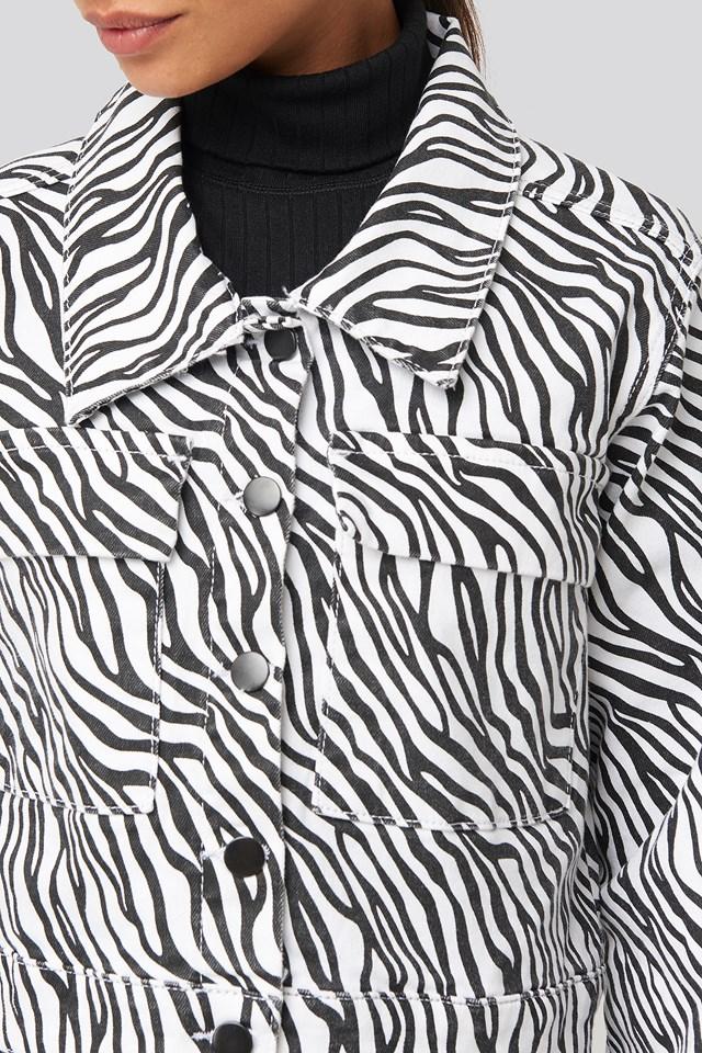 Zebra Denim Jacket Zebra