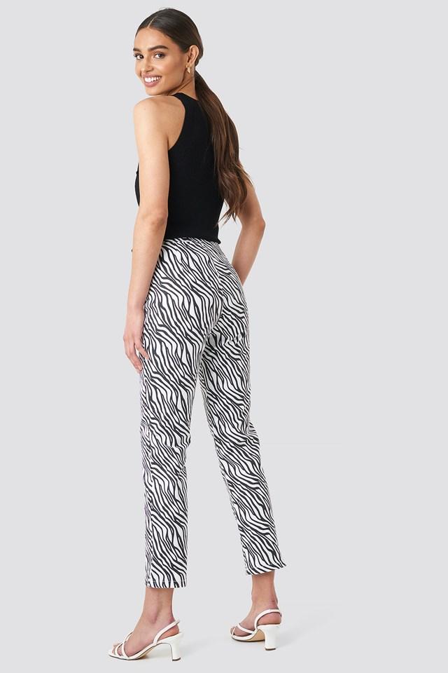 Zebra Denim Pants NA-KD.COM