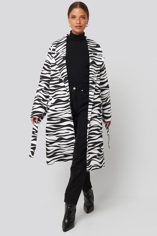 Zebra Denim Trenchcoat Zebra