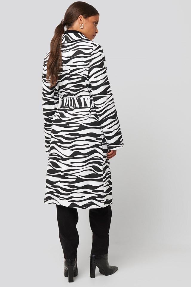Zebra Denim Trenchcoat Zebra