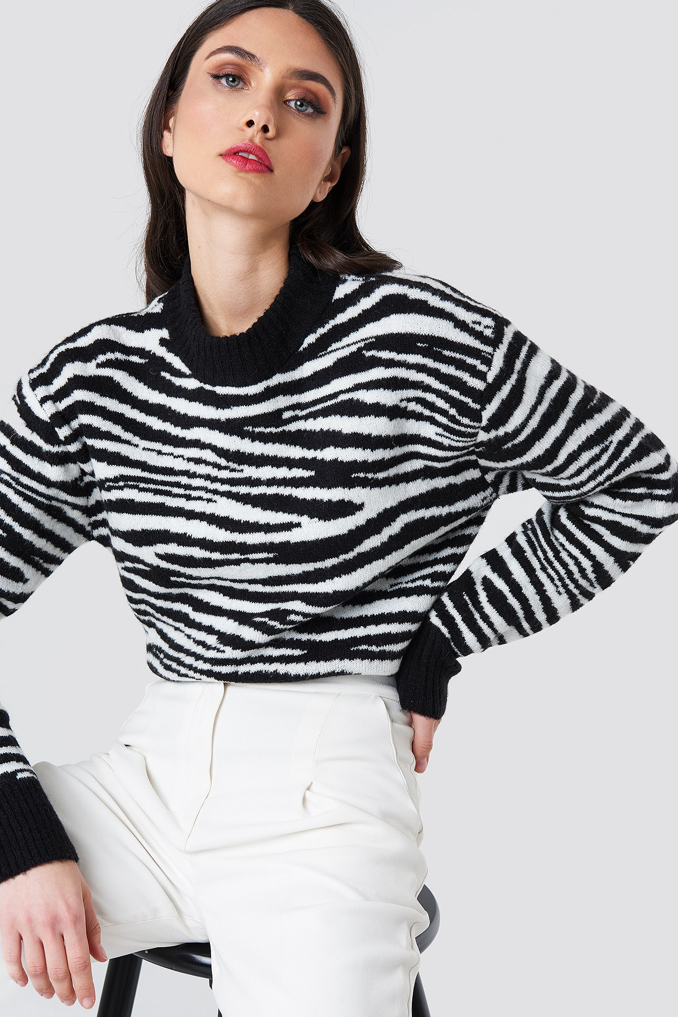 Zebra Knitted Sweater NA-KD.COM
