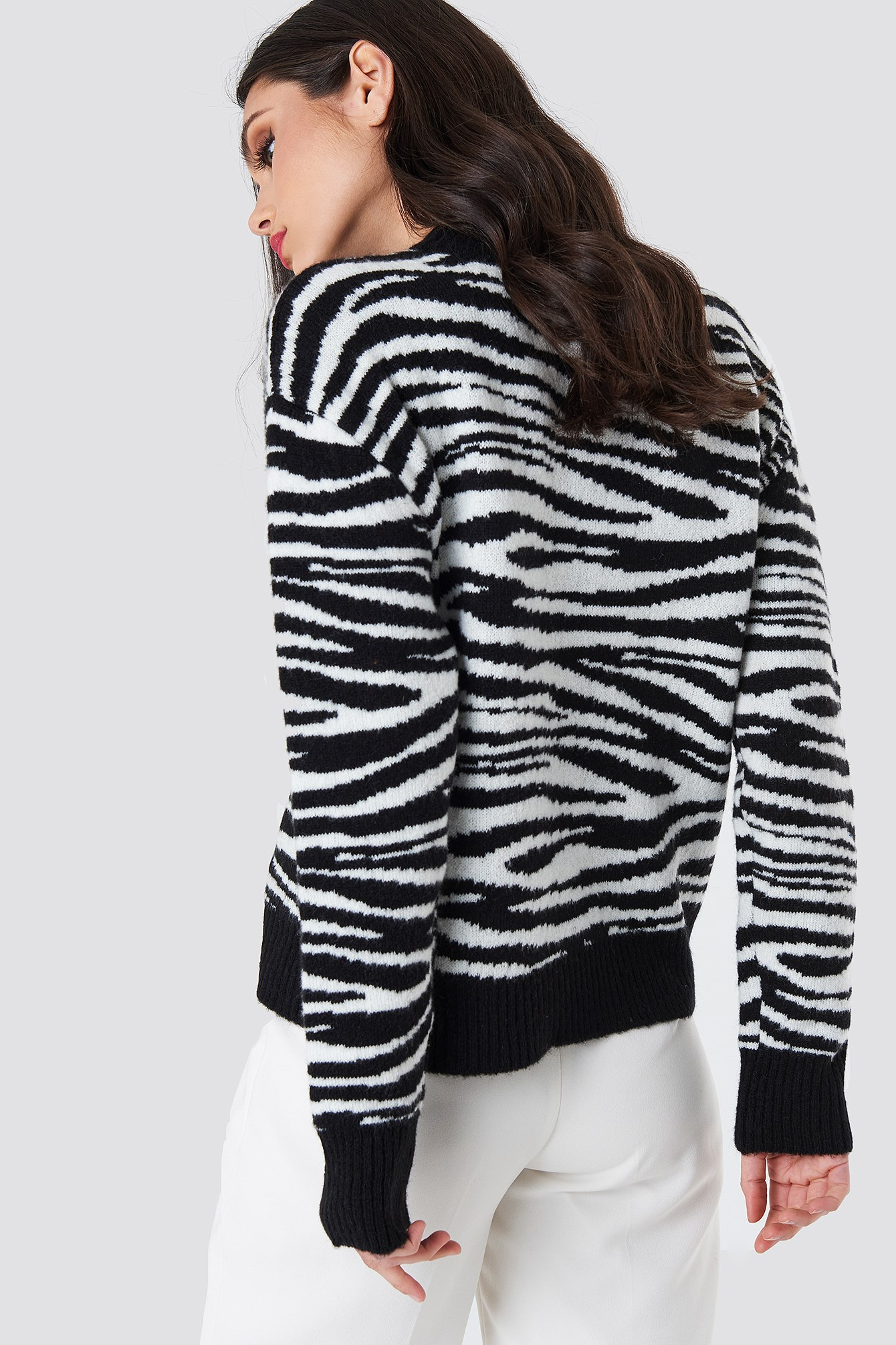 Zebra Knitted Sweater NA-KD.COM