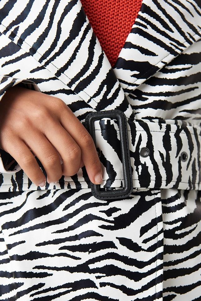 Zebra Patent Coat Zebra